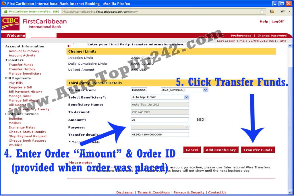 direct bank transfer deutsch